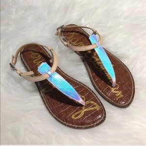 Sam Edelman Iridescent Gigi Sandals sz 10